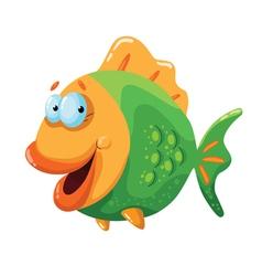 happy fish vector image