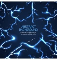 Lightning background vector image vector image