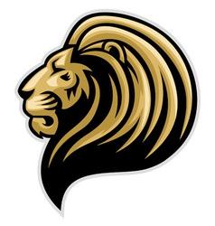 lions head mascot vector image vector image