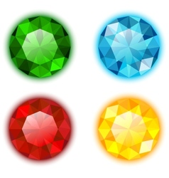 The set of four colorful jewels vector image