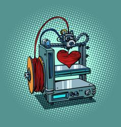 bioprinter prints love heart 3d printer vector image vector image
