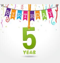 birthday celebration greeting card design vector image vector image