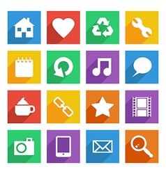 bright social media icons vector image vector image