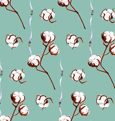Cotton blue pattern vector image