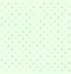 green shamrock pattern seamless vector image vector image