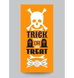Happy Halloween Party card Typography letters vector image