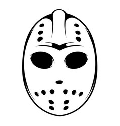hockey mask icon icon cartoon vector image