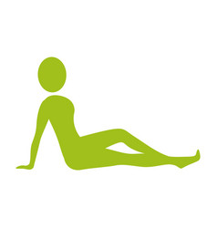 silhouette woman relaxing her body vector image