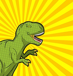 Tyrannosaurus pop art style Angry prehistoric vector image vector image