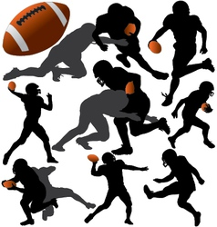 American Football Silhouettes vector image vector image