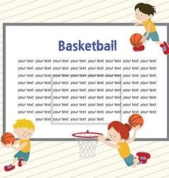 basketballtemplete 01 vector image