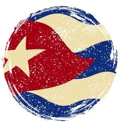 Cuban grunge flag vector image vector image