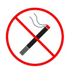 no smoke sign and symbol smoke prohibited icon vector image