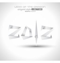 origami 2012 vector image vector image