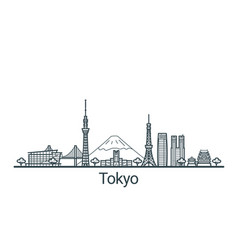 outline tokyo banner vector image vector image