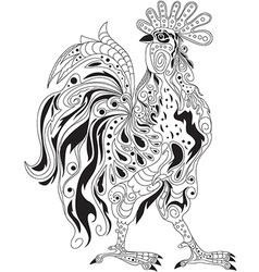 Rooster design vector image