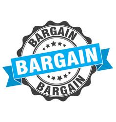 bargain stamp sign seal vector image