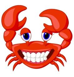Cute crab cartoon vector image vector image