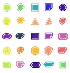 Label color icons on white background vector image vector image