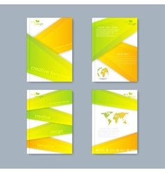 Modern set of brochures in the ecology vector image
