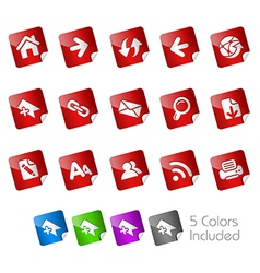Web Stickers vector image vector image