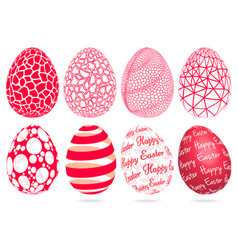 Abstract 3d easter eggs set vector