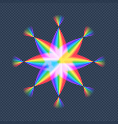 abstract gradient rainbow star stock design vector image