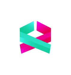 abstract logo design vector image