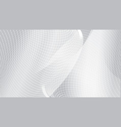 abstract white curve wave mesh background vector image