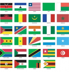 african flags vector image