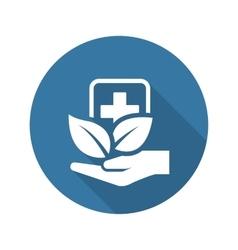 Alternative Medicine Icon Flat Design vector image