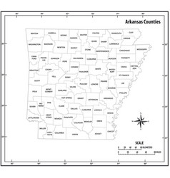 arkansas state outline administrative map vector image