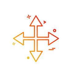 arrows icon deisgn vector image