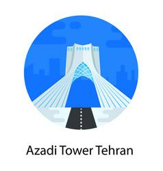 Azadi tower tehran vector