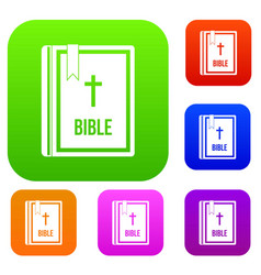 bible set collection vector image
