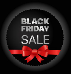black friday golden frame black friday sale tag vector image