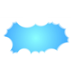 Blue sky white cloud background with copy space vector