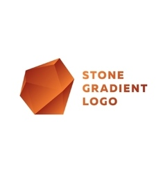 Bronze stone gradients trend sign vector image