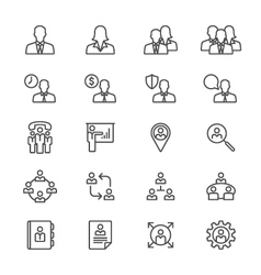 Business thin icons vector image