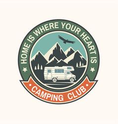Camper and caravaning club vector