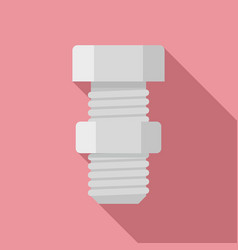 carpentry screw bolt icon flat style vector image