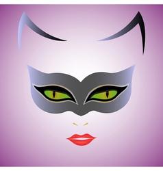 Cat Woman mask vector
