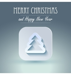 Christmas icon with paper effect vector