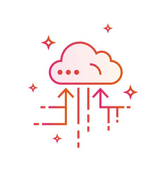 Cloud iot internet of things icon gradient vector