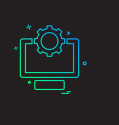 computer icon design vector image