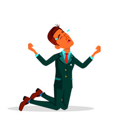 crying indian businessman in suit flat vector image