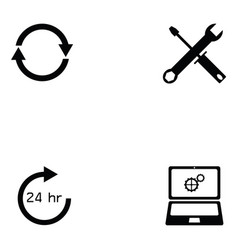 Customer service icon set vector
