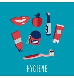 Dental hygiene medical icons in 3D vector