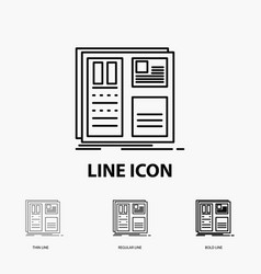 design grid interface layout ui icon in thin vector image