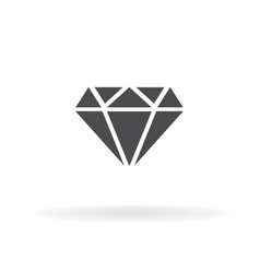 diamond icon for web business finance and vector image
